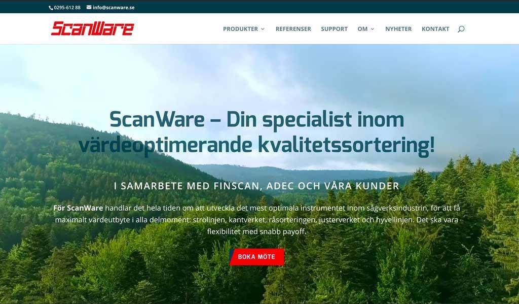 ScanWare har en ny webb